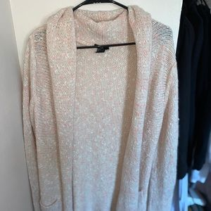 Cream with hints of pink Cardigan